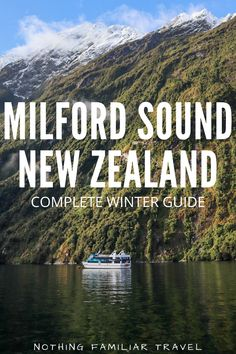 Visiting Milford Sound National Park in winter when the weather often calls for rain or snow can deter some travelers. Just know that it's worth the trip all year round! Come with us to this magical place where waterfalls flow from the sky, and massive trees grow up the mountains. In this Milford Sound New Zealand guide we cover everything from the road to Milford Sound, the best Milford Sound cruise to take, weather warnings, and where to stay in this unique corner of New Zealand.