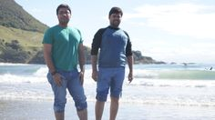 Abdul and Ravi's first time at the beach!