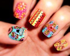 dia de los muertos nails  #nails #nailart