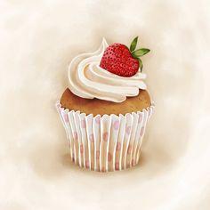 Cupcake Kunst, Cupcake Png, Cupcake Clipart, Clipart Png, Cupcake Painting, Food Art Painting, Cupcake Drawing, Baking Logo, Cupcake Pictures