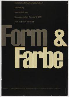 Armin Hofmann. Form & Farbe. 1951