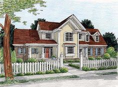Plan W40145DB: Corner Lot, Country House Plans & Home Designs