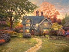 Gingerbread Cottage by Thomas Kincade