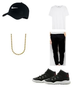 """Untitled #76"" by f0revera on Polyvore featuring Jordan Brand, NIKE, Valentino, Farah, men's fashion and menswear"