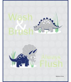 Items similar to dinosaur bath pictures, unframed navy blue and gray bathroom prints, kids wall art, childrens decor, wash and brush art on Etsy Boy Bath, Bath Art, Bathroom Prints, Wash Brush, Bath Decor, Gray, Boys, Handmade Gifts, Vintage