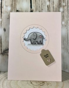 New baby girl card.  Using Papertrey Ink stamps and dies, as well as the MFT peek-a-boo die.  www.sharon-curtis.com #papertreyink #mft #myfavoritethings #tiny tags