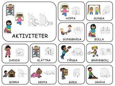 Teckenkartor Sign Language Book, Learn Swedish, Swedish Language, Flashcards For Kids, Learn English Grammar, Farm Theme, In Kindergarten, Preschool Activities, Montessori
