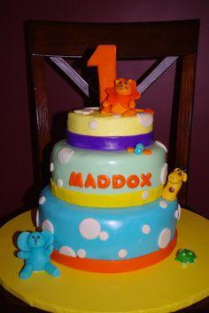 1st birthday cake for baby boy