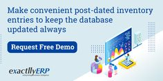 Update your database accurately with postdated entries without the fear of late recording and missing out on real-time information with #ExactllyERP.  Take Free Demo bit.ly/exactllyERP-Demo  #ResourcePlanning #ERPSolution #ERPSystem #Business #Cloud #Enterprise #Database Business Intelligence, Business Management, Cloud, Free, Clouds