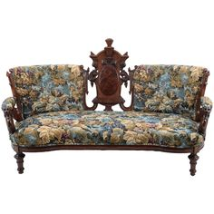 American Victorian Carved Sofa from solvangantiques on Ruby Lane