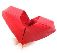 Origami: Heart Box in Japanese - good diagrams