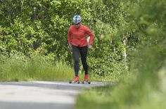 Roller-skiing - what a wonderful way og working out