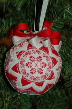 folded star ornament balls | ... similar to Red Snowflake folded star ball christmas ornament on Etsy