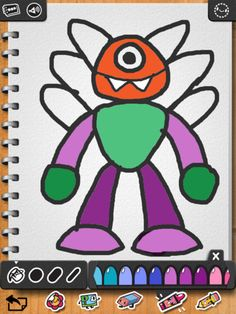 step by step learn to draw application offers 20 different ways to create cute monsters