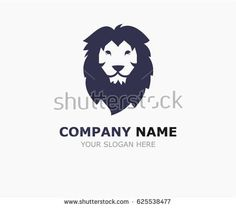 Lion head - vector logo template creative illustration. Animal wild cat face graphic sign.