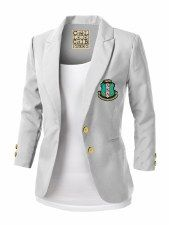 Alpha Kappa Alpha Blazer Alpha Kappa Alpha Blazer <br> Alpha Kappa Alpha Blazer: This item is special ordered and made on demand, please allow business days for this item to be shipped once your orde Aka Sorority Gifts, Sorority Outfits, Sorority Fashion, Sorority Girl Style, Alpha Kappa Alpha Sorority, Delta Sigma Theta, Blazer Outfits Casual, Blazer Fashion, How To Wear Blazers