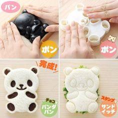 Japanese 3D Go Panda Bento Rice Mold and Seaweed Nori Cutter Set