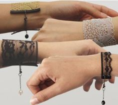 These are beautiful! I should try this! http://www.ribbonjar.com/Lace_s/96.htm