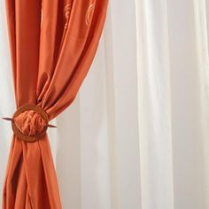 Casa > Perdele / Draperii Cusute They totally have these at the dollar store for hair! Curtain Tie Backs, Dollar Stores, Living, Interior Design, Orange, Bedroom, Home Decor, Curtain Designs, Blinds