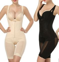 8a00971fa1463 Women Fashion Slimming Open Bust Shapewear Bodysuit Thigh Slimmer Belly  Shaper Full Body Firm Control Bodysuit Shapewear