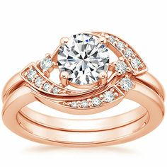 14K Rose Gold Iris Diamond Ring from Brilliant Earth