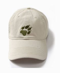 Pure Color Baseball Cap with Stitched Wolf Claw