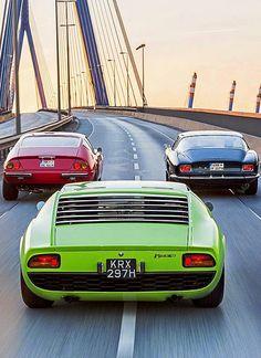 Italy rules. Ferrari Daytona, Iso Grifo and Lamborghini Miura