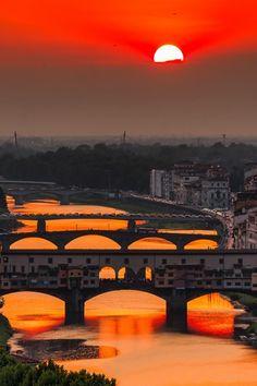 Crimson sky by Giuseppe Torre