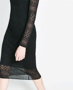 LINED OPEN WORK DRESS from Zara