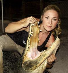 "Ashley On Gator Boys | Meet Ashley & Chris from Animal Planet's, Gator Boys."" They ..."