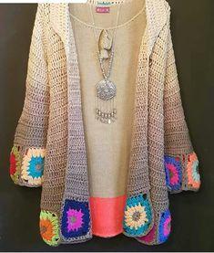 Crochet granny jacket