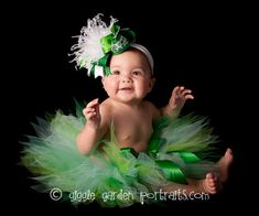 Green Baby Tutu  St Patricks Tutu Set  Birthday Tutu  by TutuTiara, $31.00