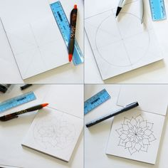 The Laura Soap & Gift Shoppe: how to draw a mandala...