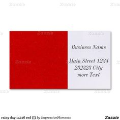 rainy day 14216 red (I) Double-Sided Standard Business Cards (Pack Of Modern Business Cards, Promotion, The 100, Articles, Day