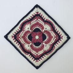 Ravelry: Olivia Grace Afghan Square pattern by Pam Knighton-Haener Granny Square Crochet Pattern, Crochet Squares, Crochet Granny, Crochet Motif, Crochet Stitches, Crochet Hooks, Crochet Patterns, Granny Squares, Crochet Ideas