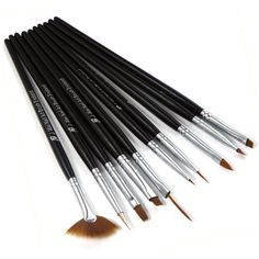 X, 10pc Nail Art Design Drawing Painting Pen Brushes Set