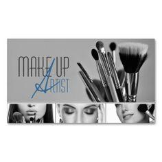 MakeUp Artist, Cosmetologist, Beauty, Salon Business Card