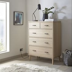 Buy Design Project by John Lewis No.049 5 Drawer Chest, Oak Online at johnlewis.com