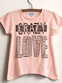 Kids Girls Crazy Love Solid tee  $32  www.junkfoodclothing.com
