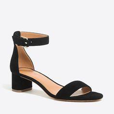 suede block heel sandals : factorywomen heels