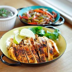 Recipe: Chipotle Chicken Fajitas with Creamy Black Bean Spread — Recipes from The Kitchn
