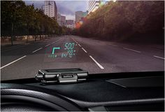 The Garmin Head-up Display sync with your smart phone and projects navigation information onto your windshield, including directions, speed, traffic, eta, speed limit, and traffic information.