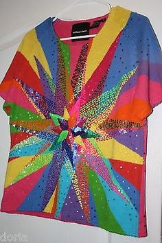 Michael-Simon-Incredible-Starburst-Sweater-Womans-Size-S