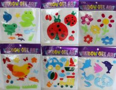 (4) Window Gel Art, Spring/summer Collection (Combo 2) by Gel Art. $9.99. Excellent for teachers, pre-schools, and any home to decorate for the Summer. Set includes many individual pieces of window art. Including Flowers, Fish, Bees, Cars, Spring Fever and more.. Gel Art Is Washable And Reusable. Designs may vary. Please note you will receive 4 diff sets of Gel art. You're going to love this Sping/Summer gel art. The set includes many individual pieces of window art...