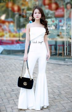 Asian Beauty, White Jeans, Hot Girls, Jumpsuit, Sexy, Dresses, Fashion, Catsuit, Gowns