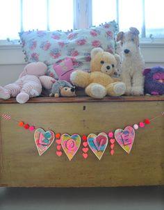 Guirnalda Amor DIY - artesanía de San Valentín | Grandes pequeños párrafo