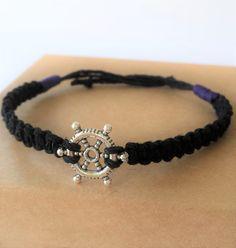 Men's bracelets // Black bracelet for men // bracelets // casual bracelets for men // adjustable bracelets // charm bracelets// for him by BanSisDesign on Etsy