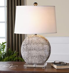 One Light An Aged Ivory Glaze With Rustic Bronze Table Lamp : 9LU71 | Dulles Electric Supply Corp.
