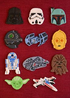 Star Wars Cupcakes with Toppers