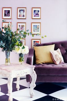 Color Inspiration  Purple Green And Teal  Living Rooms Inspiration Purple Living Room Designs Design Decoration